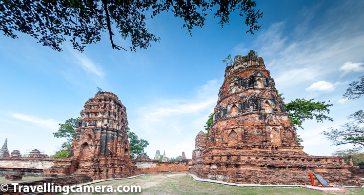Related Blog-post : Charming Thai-style Homestay, Authentic Thai food & Ayuthhaya Travel tips || 10-Day Vacation in Thailand (Day 3)    Wat Phra Ram is also a recreational area for local residents of Ayutthaya town of Thailand. There is a large-scale swamp located in front of the temple. It is named Bung Phra Ram Public Park. Many times you would also find fashionable elephants roaming around and one can take a ride. I personally discourage such activity with encourages humans to enforce animals to do stuff which may not be very exciting or can be torture if we think other way.