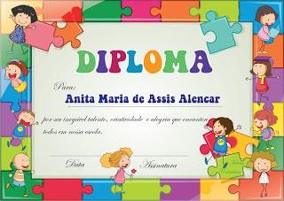 Diploma e roteiro de Formatura Infantil
