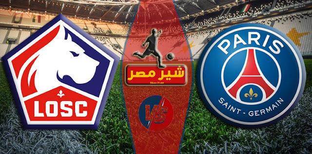 موعد مباراة ليل وباريس سان جيرمان في نهائي كأس السوبر الفرنسي