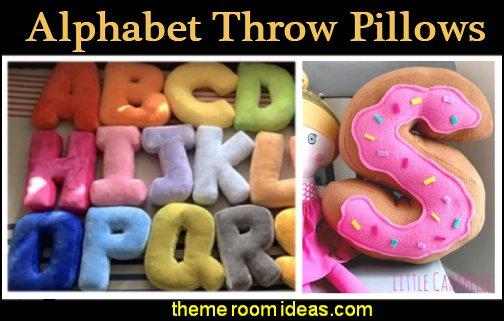 LETTER PILLOWS ALPHABET LETTER THROW PILLOWS FUN PILLOWS Initial letter cushion pillows