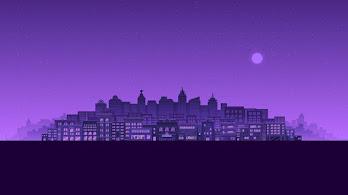 City, Buildings, Cityscape, Night, Digital Art, Minimalist, 4K, #3