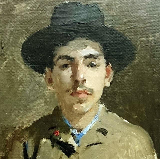 Ramón Casas i Carbó, Self Portrait, Portraits of Painters, Fine arts, Ramón Casas, Portraits of painters blog, Paintings of Ramón Casas, Painter Ramón Casas