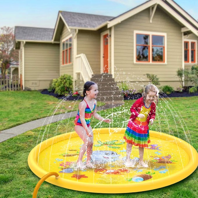 AMAZON - 50%off  Sprinkler Play Mat Inflatable Water Toys