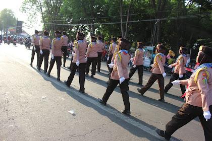 Gerak Jalan di Kecamatan Mojosari