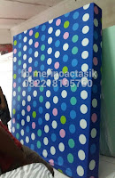 Kasur inoac motif polkadot biru inoactasik