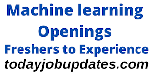 Machine learning Job Openings For Freshers to Experience| 12th Aug 2020