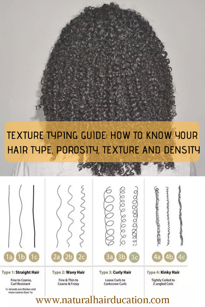 TEXTURE TYPING GUIDE: HOW TO KNOW YOUR HAIR TYPE, POROSITY, TEXTURE AND DENSITY