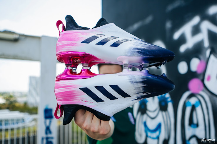 2 Bold Adidas Glitch 18 Aura Skin Boots Released Leaked Soccer Cleats