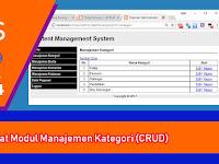 Tutorial PHP - Membuat CMS Sederhana - Part 4 - Membuat Modul Manajemen Kategori