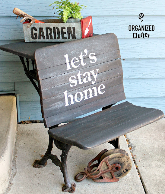 My 2019 Summer Covered Patio Decor #outdoordecor #vintage #antiques #farmhouse #stencil #oldsignstencils #thriftshopmakeover #upcycle #repurpose #patiodecor #porchdecor