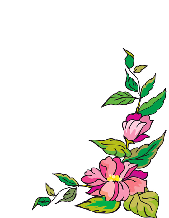 Bordes decorativos bordes decorativos de flores para imprimir - Dibujos decorativos para imprimir ...
