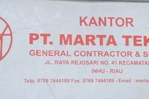 Lowongan Kerja PT. Marta Teknik Indragiri Hulu Riau Mei 2019