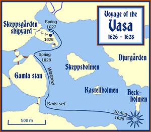 Viaje inaugural del Vasa