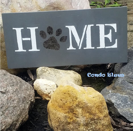 how to stencil and wood burn a Home door sign