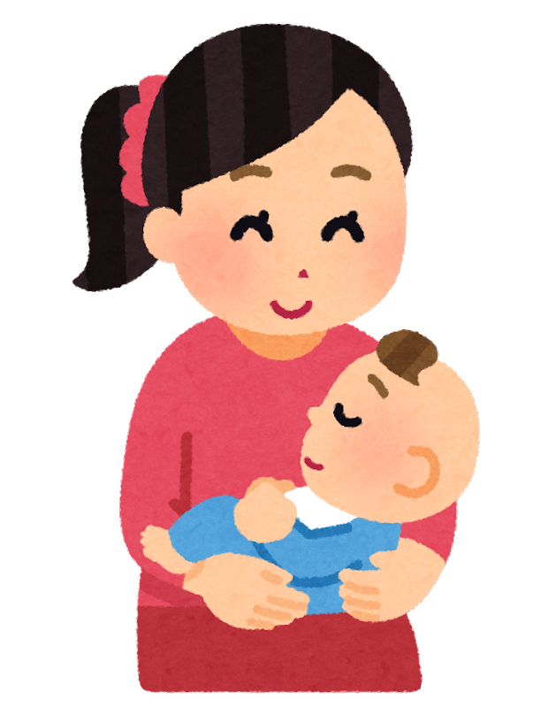 ひざの上で赤ちゃんを抱く母親のイラスト かわいいフリー素材集 いらすとや