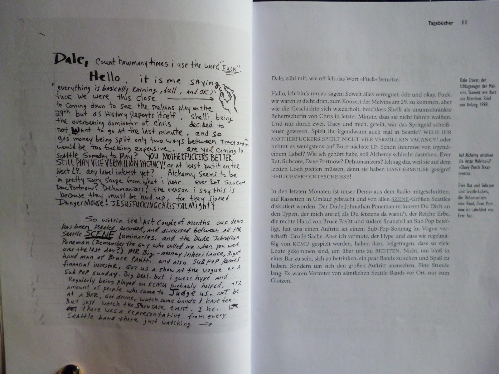 Kurt Cobain Tagebücher