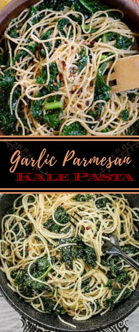 Garlic Parmesan Kale Pasta #vegan #vegetarian #soup #breakfast #lunch