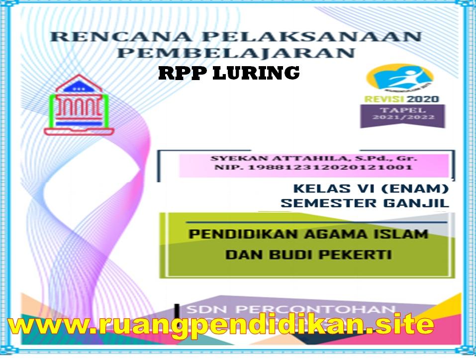 RPP Luring 1 Lembar PAI dan BP Kelas 6 SD/MI Semester