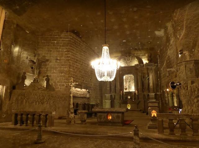 altare nella cappella di Kinga a Wieliczka