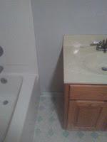 Drywall repair and painted bathroom
