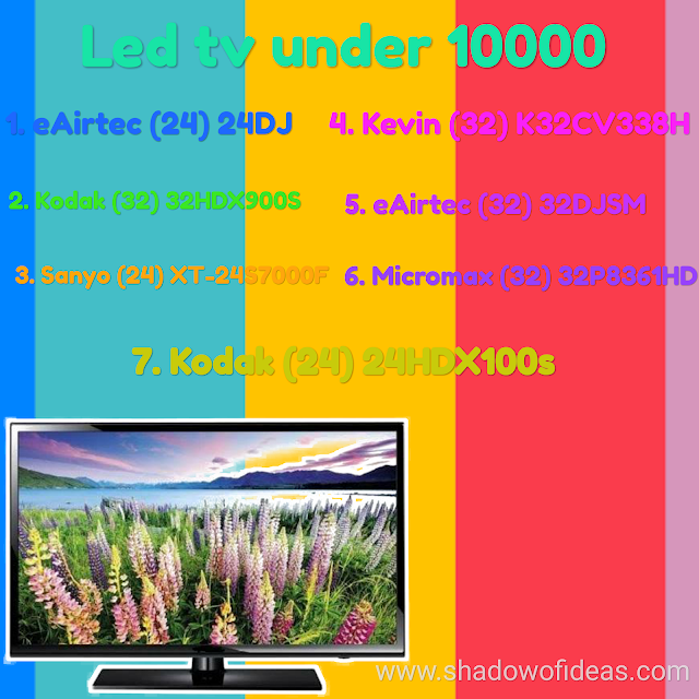 7 Best led television in India under 10000