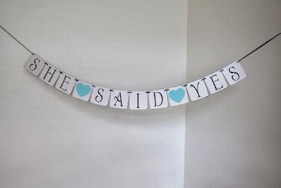 engagement party banner idea