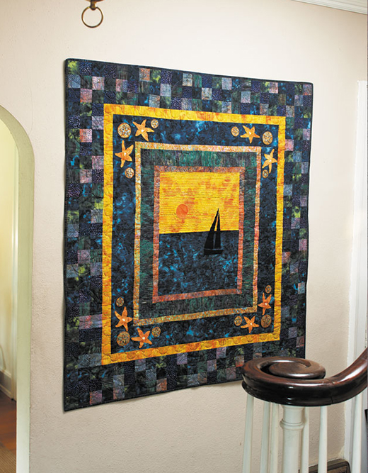 Sailing Quilt designed by Lori Hein for Quilting Daily