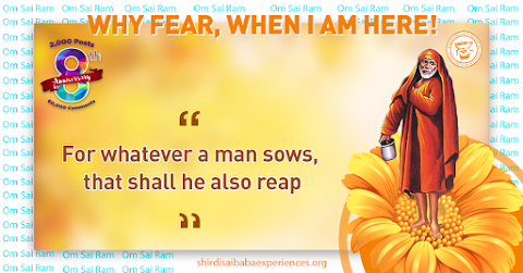 Sow What You Reap - Sai Baba With Begging Bowl Painting Image