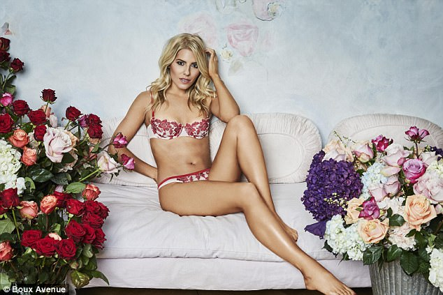 Boux Avenue Valentine's Day Lingerie Campaign 2018 featuring Mollie King