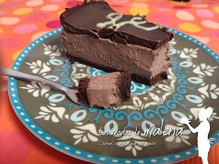 Cheesecake de chocolate. la tarta perfecta para los amantes del chocolate