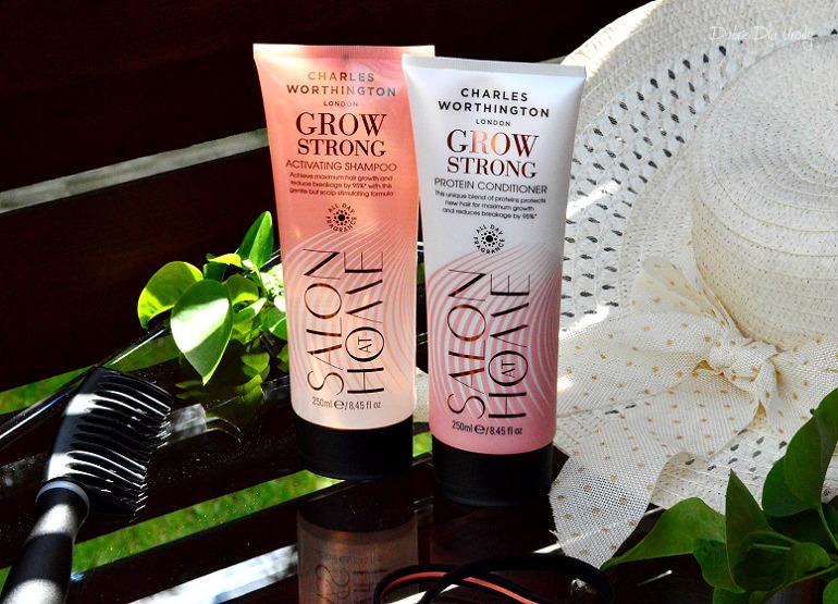 Charles Worthington Grow Strong kosmetyki do włosów recenzja