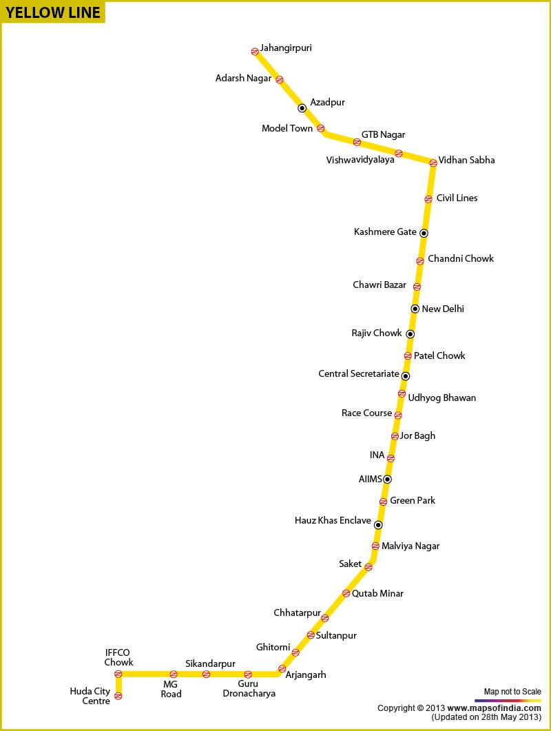 Metro Yellow Line Map Compressportnederland
