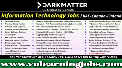 Latest Jobs Darkmatter Uae