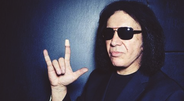 gene simmons horns up