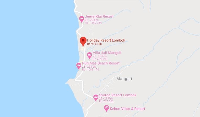 Alamat lengkap Holiday Resort Lombok