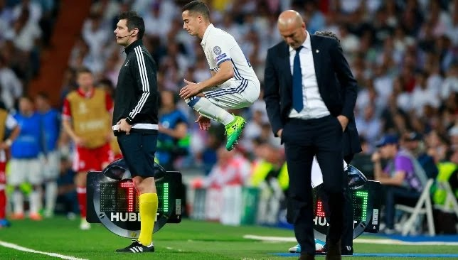 A strong blow to Zidane's head before meeting Real Madrid and Inter Milan