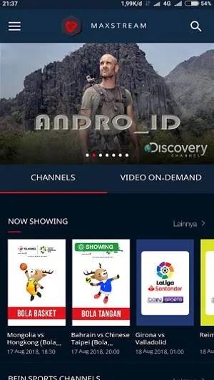 Download Aplikasi Maxstream android root apk