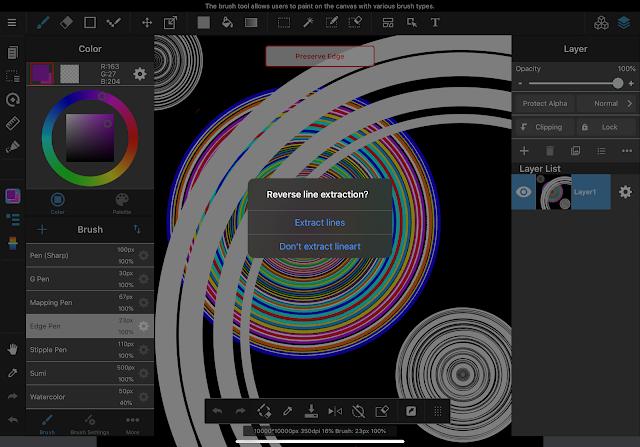 MediBang Paint Pro on iPad