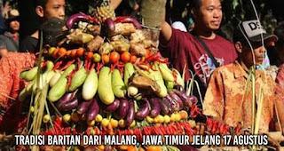 Tradisi Baritan dari Malang, Jawa Timur Jelang 17 Agustus