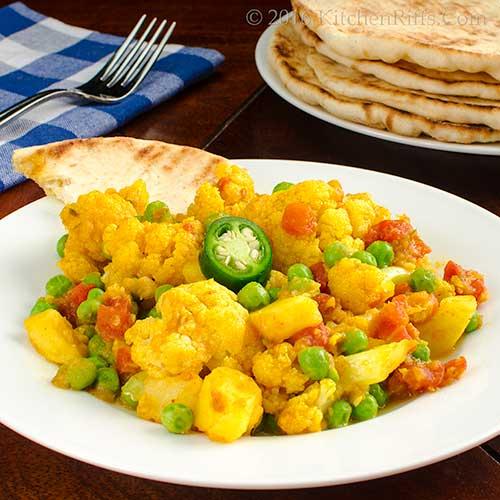 Cauliflower, Potato, and Pea Curry