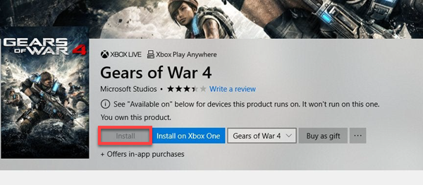 Windows Store Install button is greyed out