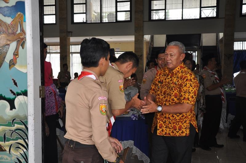 Keberadaan Pramuka Di Kabupaten Kuningan Sangat Menggembirakan