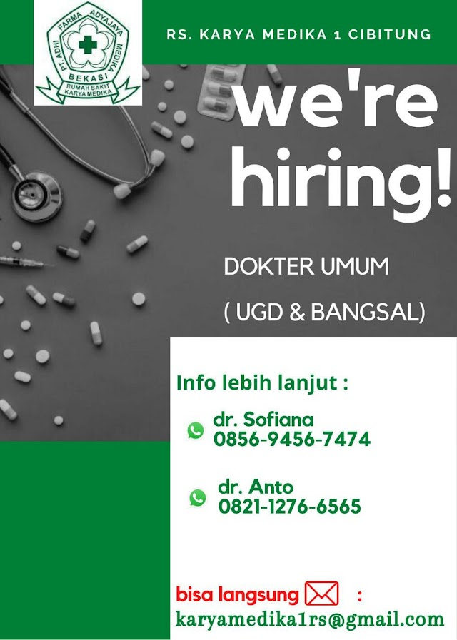 Loker Dokter RS Karya Medika Cibitung, Bekasi