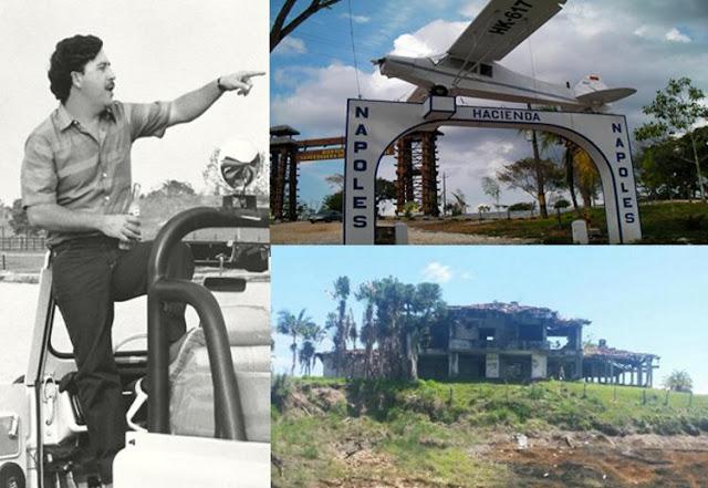 """El imperio del """"barón de la droga"""" Pablo Escobar, en ruinas"""