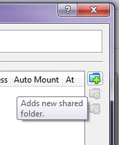 Add a new shared folder