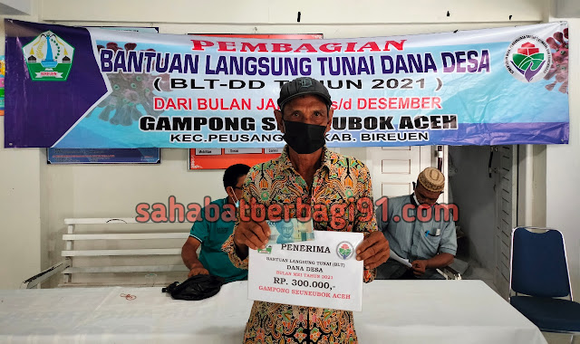 Penyaluran Bantuan Langsung Tunai Tahap 5 Desa Seuneubok Aceh Peusangan