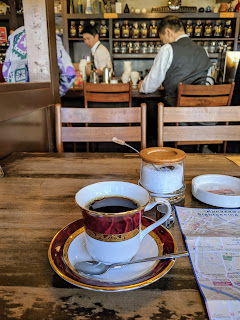 What to do in Kanazawa: drink coffee at Higashide Coffee