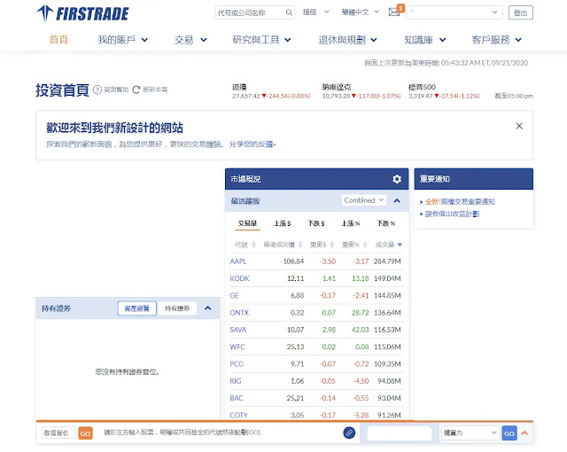 firstrade第一次登入設定:Firstrade後台
