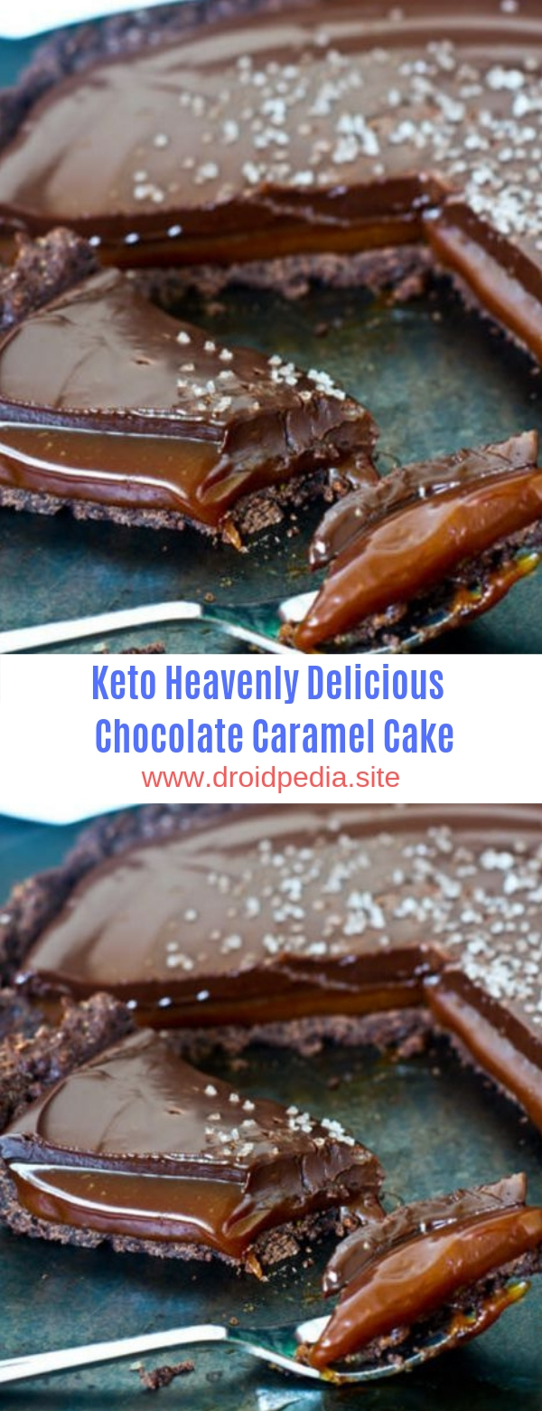 Keto Heavenly Delicious Chocolate Caramel Cake