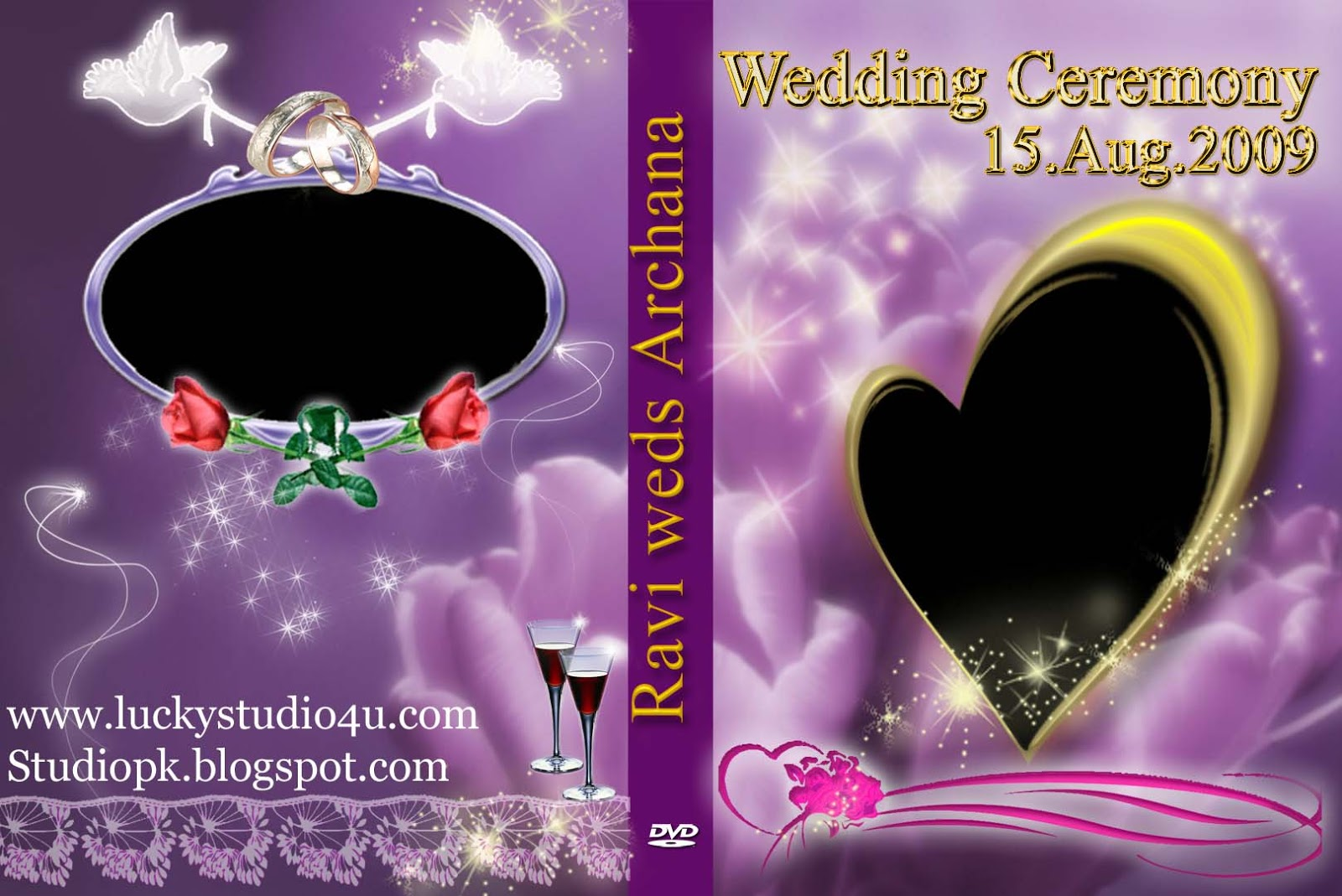 27 Wedding DVD Cover Psd Templates Free Download - StudioPk